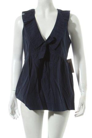 Polo Ralph Lauren ärmellose Bluse dunkelblau Eleganz-Look