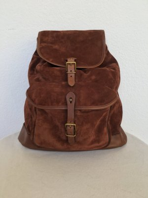 Polo Ralph Lauren, Backpack, Wildleder/Leder, cognac, neu