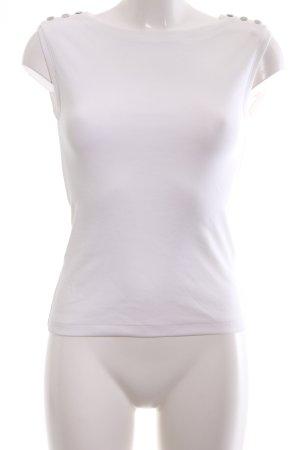 Polo Ralph Lauren Basic Top weiß Casual-Look