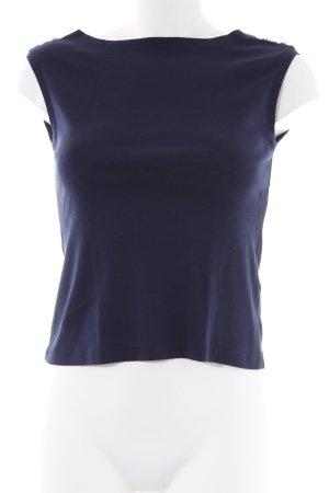 Polo Ralph Lauren Basic Top dunkelblau Casual-Look