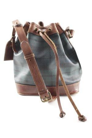 Polo Ralph Lauren Pouch Bag petrol-brown check pattern Brit look