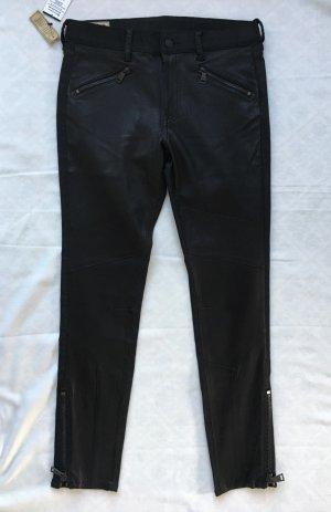 Polo Ralph Lauren, Biker-Hose, 38 (W 28), schwarz, Leder/Baumwolle, neu, € 950,-