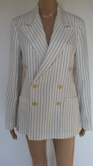 Polo Ralph Lauren, Blazer, cream-black striped, 36 (US 6), Baumwolle/Leinen/Seide, neu, € 650,-