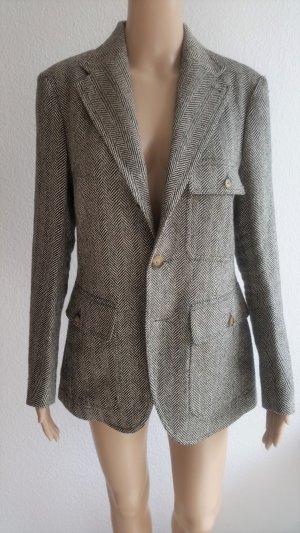 Polo Ralph Lauren Blazer en laine blanc-noir tissu mixte