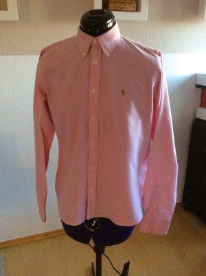 Polo Ralph Lauren Bluse tailliert mit Button-Down Knöpfen pink Größe US12/DE42