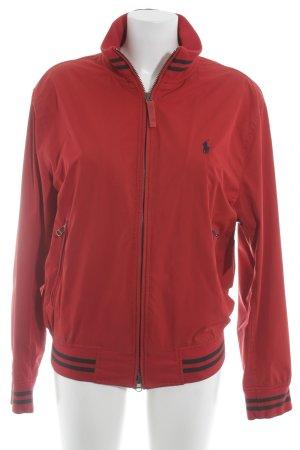 Polo Ralph Lauren Bomberjack rood-donkerblauw straat-mode uitstraling