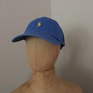 Polo Ralph Lauren Sun Hat neon blue cotton