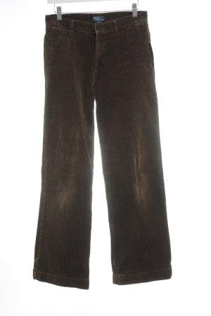 Polo Ralph Lauren Pantalon en velours côtelé brun foncé style décontracté