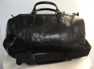 Polo Ralph Lauren Sac weekender noir cuir