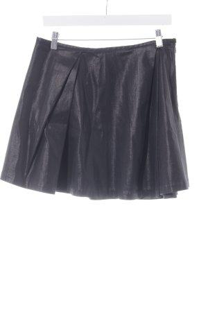 Polo Ralph Lauren Faltenrock schwarz Glanz-Optik