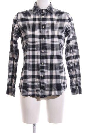 Polo Ralph Lauren Flanellhemd schwarz-weiß Karomuster Casual-Look