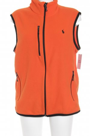 Polo Ralph Lauren Fleecejacke neonorange-schwarz sportlicher Stil