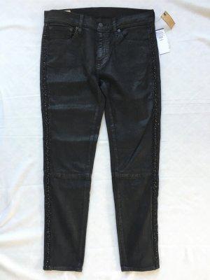 Polo Ralph Lauren, Fringes Skinny Denim Pants, 38/40 (W 29), schwarz, Baumwolle/Elasthan, neu, € 450,-