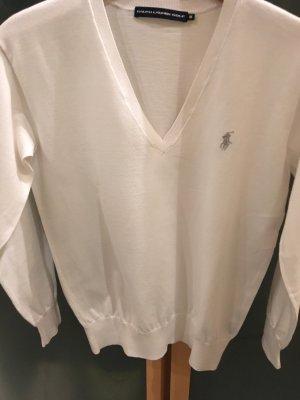Polo Ralph Lauren Pull col en V blanc-gris clair