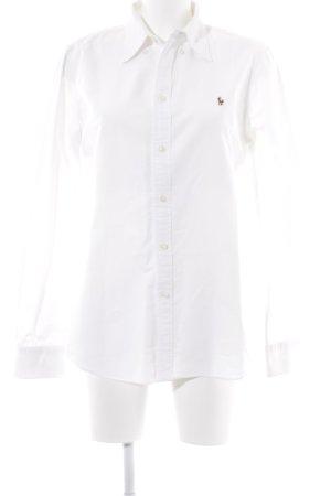 Polo Ralph Lauren Hemd-Bluse dunkelblau-weiß klassischer Stil
