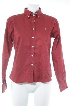 Polo Ralph Lauren Hemd-Bluse dunkelrot klassischer Stil