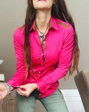 Polo Ralph Lauren Hemd-Bluse pink-hellbraun Country-Look Baumwolle