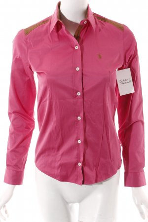 Polo Ralph Lauren Hemd-Bluse pink-hellbraun Country-Look