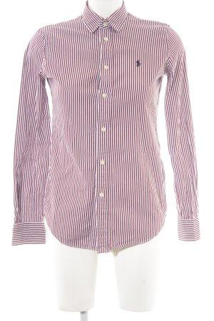 Polo Ralph Lauren Hemd-Bluse weiß-bordeauxrot Streifenmuster Casual-Look