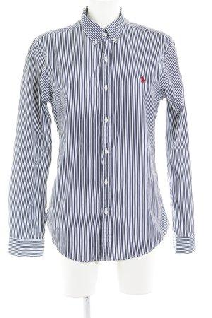 Polo Ralph Lauren Hemd-Bluse weiß-dunkelblau Streifenmuster Business-Look