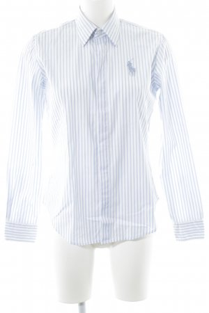 Polo Ralph Lauren Hemd-Bluse weiß-hellblau Streifenmuster Casual-Look