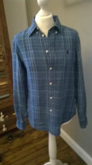 Polo Ralph Lauren Shirt met lange mouwen donkerblauw-staalblauw Linnen
