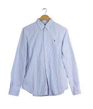 Polo Ralph Lauren Camicia a maniche lunghe bianco-blu fiordaliso