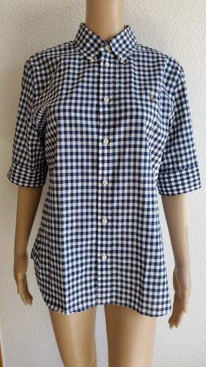 Polo Ralph Lauren, Hemd, kurzärmlig, blau-weiß kariert, L, Baumwolle, neu