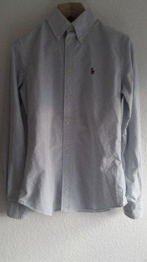 Polo Ralph Lauren, Hemd, L, Button-Down, blau-weiß, Baumwolle, neu