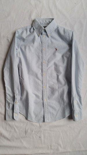Polo Ralph Lauren, Hemd, XS, Button-Down, blau-weiß, Baumwolle, neu
