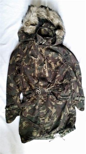 Polo Ralph Lauren, Jacke/Parka, oliv, Camouflage, XS, Baumwolle, neu