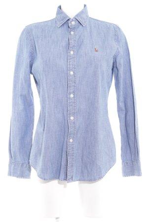 Polo Ralph Lauren Camisa vaquera azul look casual