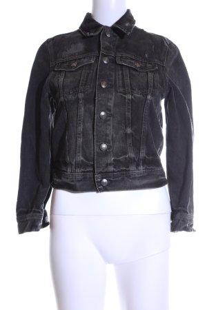Polo Ralph Lauren Jeansjacke schwarz Motivdruck Casual-Look