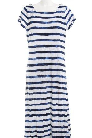 Polo Ralph Lauren Jerseykleid weiß-dunkelblau Streifenmuster Casual-Look