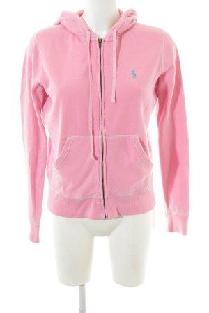 Polo Ralph Lauren Chaqueta con capucha rosa estilo deportivo