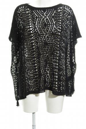 Polo Ralph Lauren Kimono Sweater black abstract pattern layered look