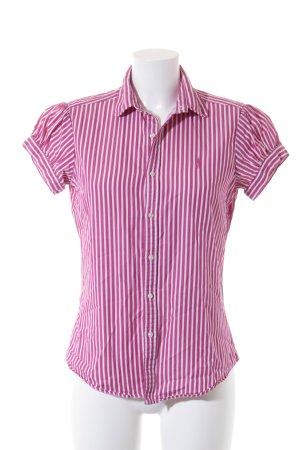 Polo Ralph Lauren Kurzarmhemd wollweiß-pink Streifenmuster Casual-Look
