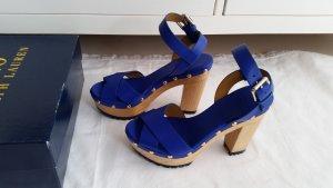 "Polo Ralph Lauren, ""Lacie Clog Sandals"", Leder, blau, 38, neu, € 350,-"
