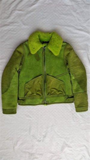 Polo Ralph Lauren, Lamb Shearling Jacket, kiwi green, S, neu, € 2.000,-