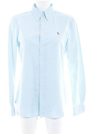 Polo Ralph Lauren Langarm-Bluse babyblau Casual-Look
