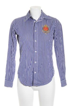 Polo Ralph Lauren Langarm-Bluse stahlblau-weiß Streifenmuster Casual-Look