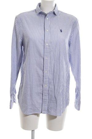 Polo Ralph Lauren Langarmhemd weiß-blau Streifenmuster Casual-Look