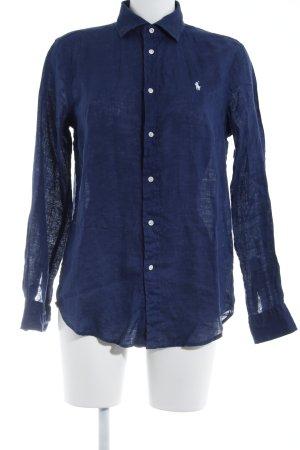 Polo Ralph Lauren Langarmhemd dunkelblau-weiß Casual-Look
