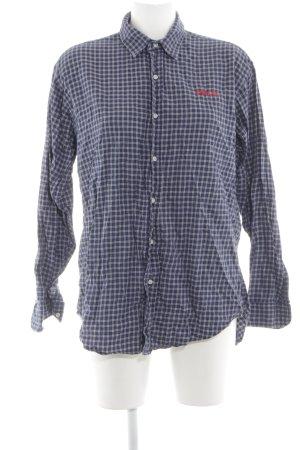 Polo Ralph Lauren Langarmhemd dunkelblau-weiß Karomuster Casual-Look