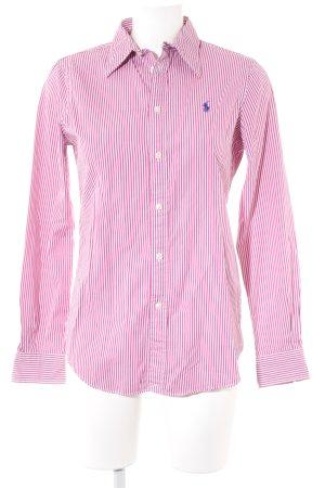 Polo Ralph Lauren Langarmhemd magenta-weiß Streifenmuster Elegant