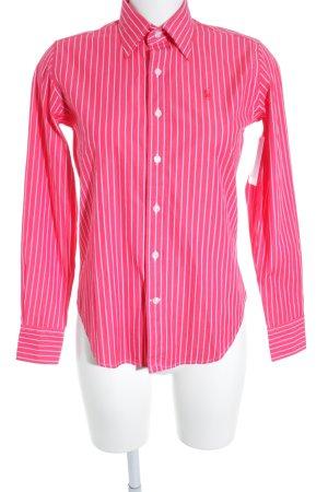 Polo Ralph Lauren Langarmhemd rot-weiß Streifenmuster Casual-Look