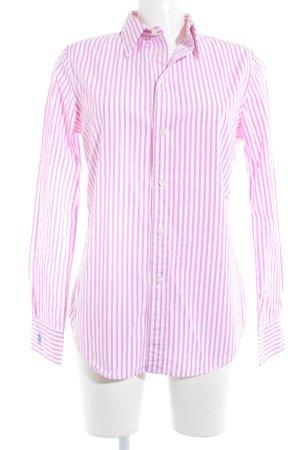 Polo Ralph Lauren Langarmhemd weiß-pink Streifenmuster Business-Look
