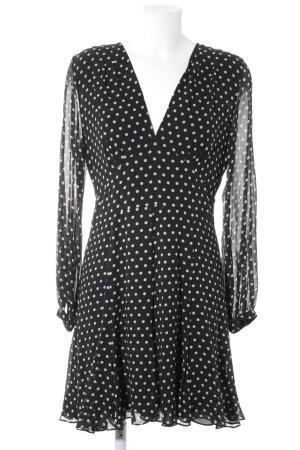 Polo Ralph Lauren Langarmkleid schwarz-weiß Punktemuster Romantik-Look