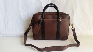 Polo Ralph Lauren Briefcase black-brown red leather