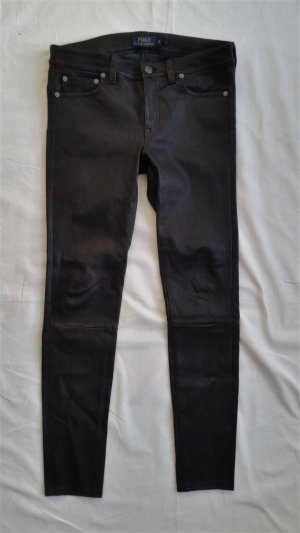 Polo Ralph Lauren Leren broek zwart Leer